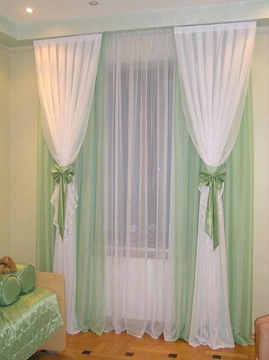 Как сшить из двух цветов шторы своими
